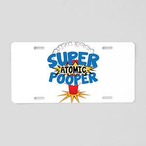 SUPER ATOMIC POOPER Aluminum License Plate