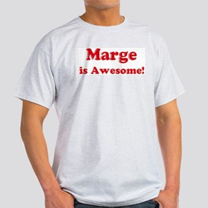 Marge is Awesome Ash Grey T-Shirt