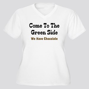 Come To The Green Side Women's Plus Size V-Neck