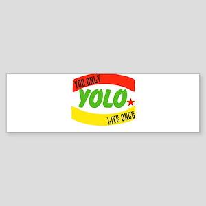 YOLO WORLD Bumper Sticker