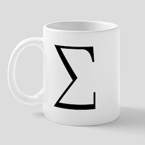Greek Sigma Symbol Mug