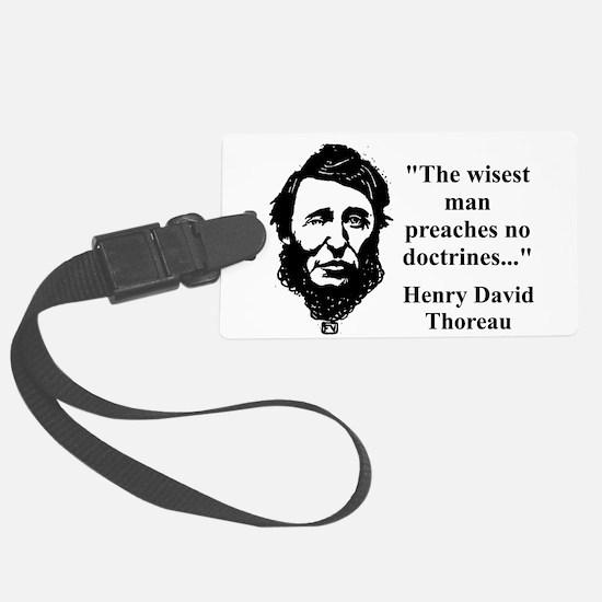 The Wisest Man - Thoreau Luggage Tag