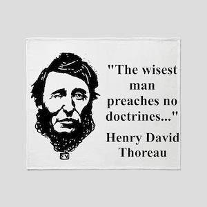 The Wisest Man - Thoreau Throw Blanket