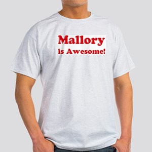 Mallory is Awesome Ash Grey T-Shirt