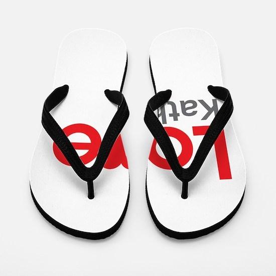 I Love Kathy Flip Flops