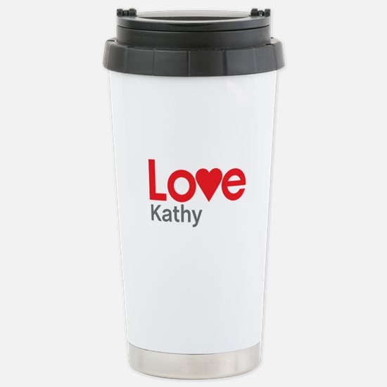 I Love Kathy Travel Mug