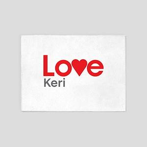 I Love Keri 5'x7'Area Rug