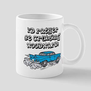 Id Rather Be Cruising Woodward Hotrod Mug