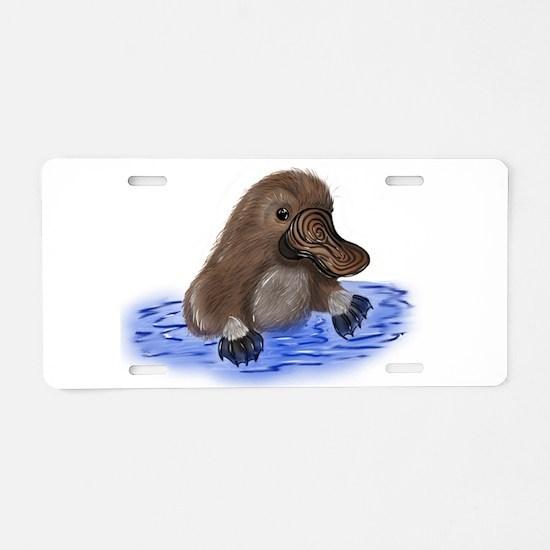 Platypus - ZooWhirlz Aluminum License Plate