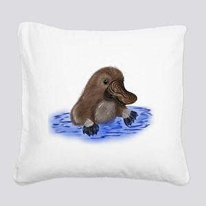 Platypus - ZooWhirlz Square Canvas Pillow