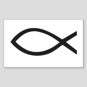 Christian Fish Symbol Sticker