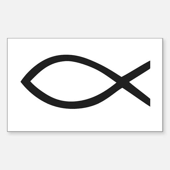 Christian Fish Symbol Decal