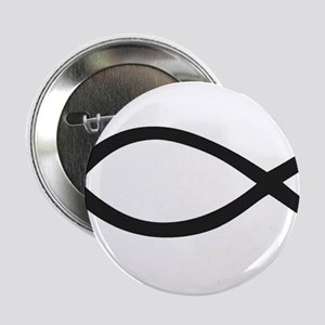 "Christian Fish Symbol 2.25"" Button"