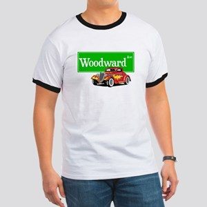 Woodward Red Hotrod Ringer T
