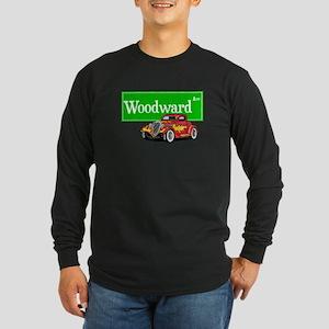 Woodward Red Hotrod Long Sleeve Dark T-Shirt