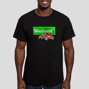 Woodward Red Hotrod Men's Fitted T-Shirt (dark)