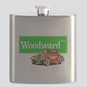 Woodward Red Hotrod Flask