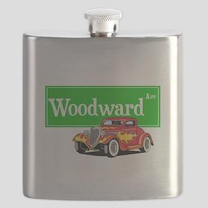 Woodward Red Hotrod Flask
