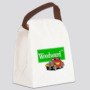 Woodward Red Hotrod Canvas Lunch Bag