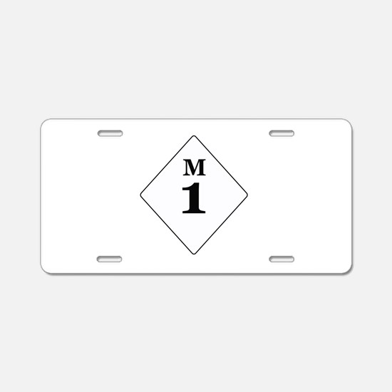 Michigan Route 1 Aluminum License Plate