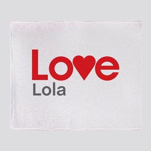 I Love Lola Throw Blanket