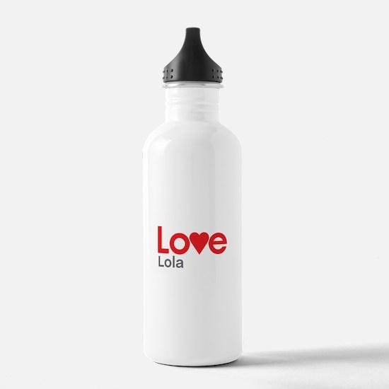 I Love Lola Water Bottle