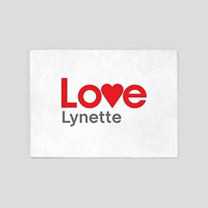 I Love Lynette 5'x7'Area Rug