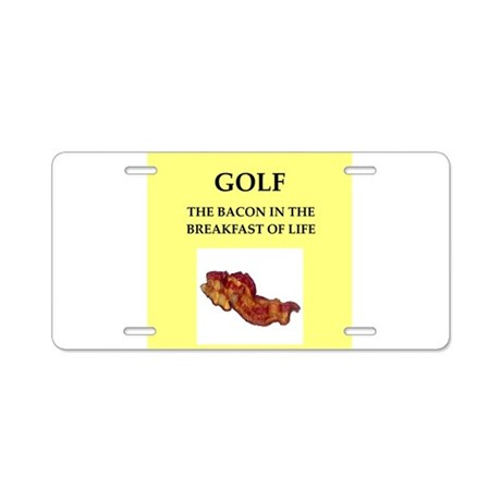 golf Aluminum License Plate