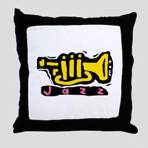j a z z Throw Pillow