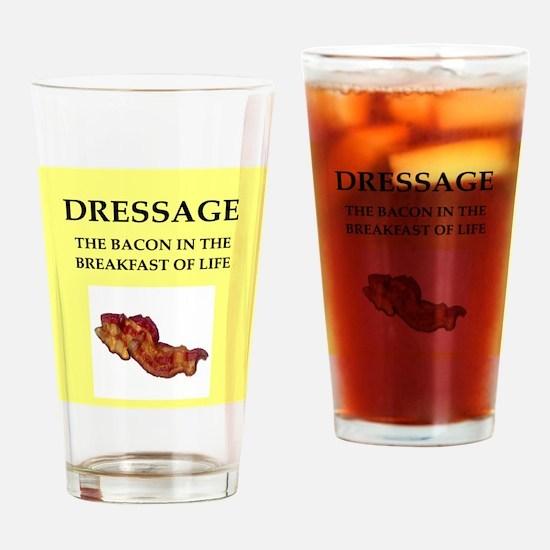 dressage Drinking Glass