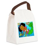 Ezo the Little Mermaid Canvas Lunch Bag