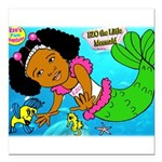 Ezo the Little Mermaid Square Car Magnet 3