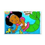 Ezo the Little Mermaid Rectangle Car Magnet