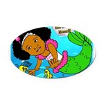 Ezo the Little Mermaid Oval Car Magnet