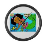 Ezo the Little Mermaid Large Wall Clock