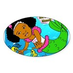 Ezo the Little Mermaid Sticker (Oval 10 pk)
