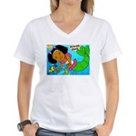Ezo the Little Mermaid Women's V-Neck T-Shirt