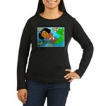 Ezo the Little Mermaid Women's Long Sleeve Dark T-