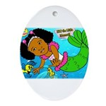 Ezo the Little Mermaid Ornament (Oval)