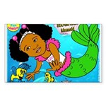 Ezo the Little Mermaid Sticker (Rectangle)