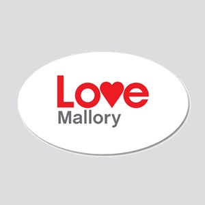 I Love Mallory Wall Decal