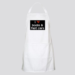 i heart boobs and fast cars Apron