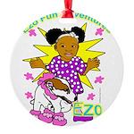 Ezo Fun Adventures Round Ornament
