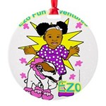 Ezo Fun Adventures Round Ornament