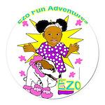 Ezo Fun Adventures Round Car Magnet