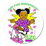 Ezo Fun Adventures Round Car Magnet