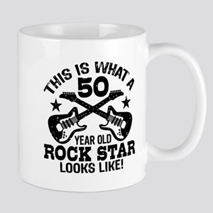 50 Year Old Rock Star Mug