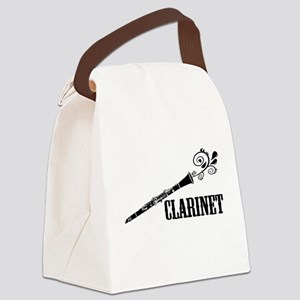 Clarinet Vector Canvas Lunch Bag