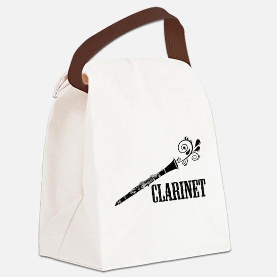 Clarinet Vector Canvas Lunch Bag