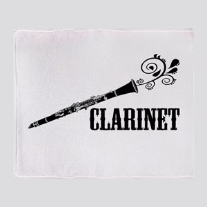Clarinet Vector Throw Blanket